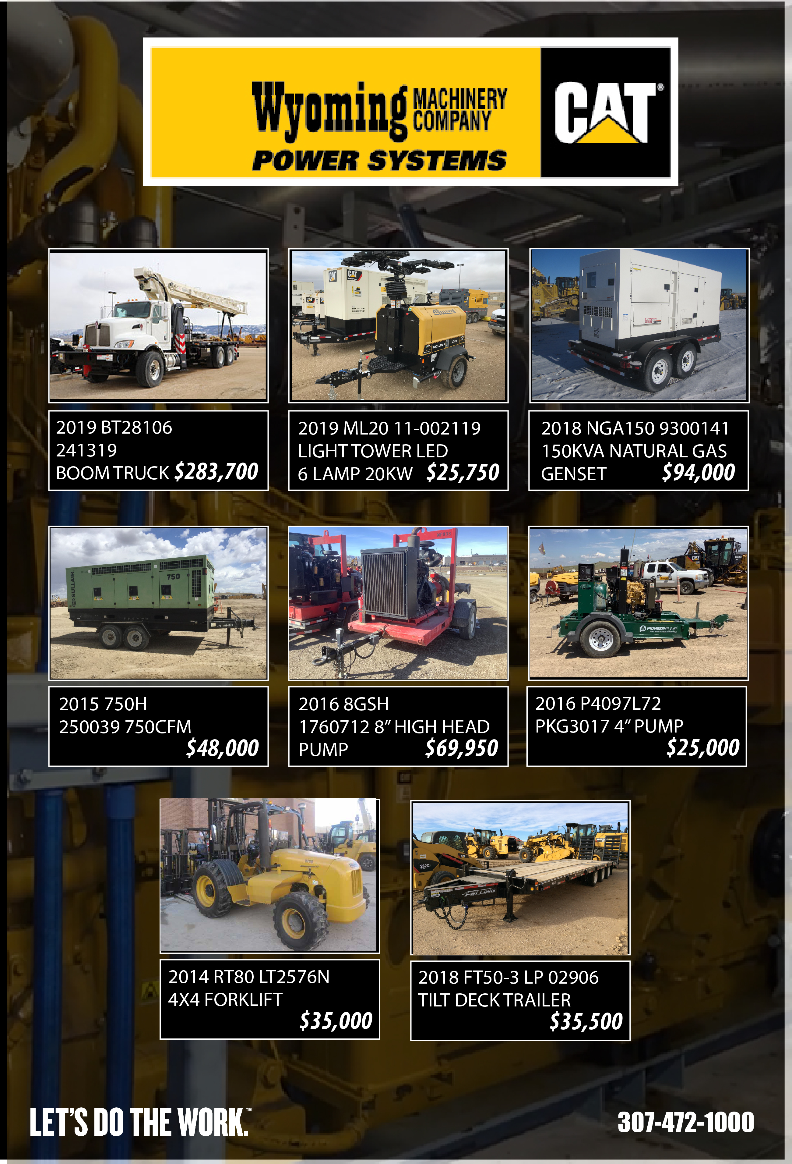 used equipment landing page